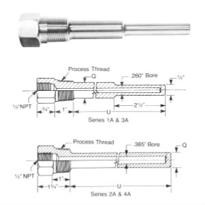Threaded Straight Stem Thermowell